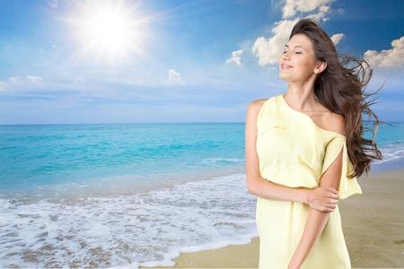 femme romantique: Automne, le soleil, gratuit.