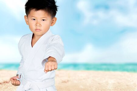 tae kwon do: Karate, Child, Tae Kwon Do. Stock Photo