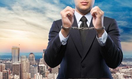 white collar crime: Handcuffs, White Collar Crime, Arrest.