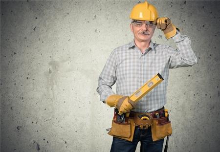 ouvrier: Travailleur de la construction, Travailleur manuel, Construction. Banque d'images