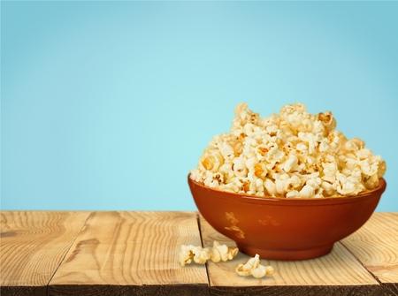 bowl of popcorn: Popcorn, Bowl, Snack.