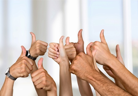 Thumbs Up, Accord, pouce humain. Banque d'images - 42605809