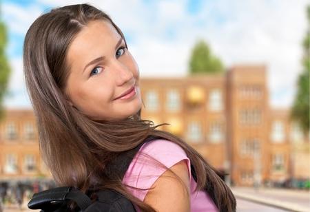 fair complexion: University, Female, Backpack.