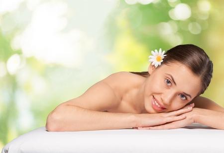 summer beauty: Spa, hawaii, hawaiian. Stock Photo