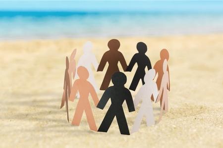 community group: Community, Support, Multi-Ethnic Group. Stock Photo