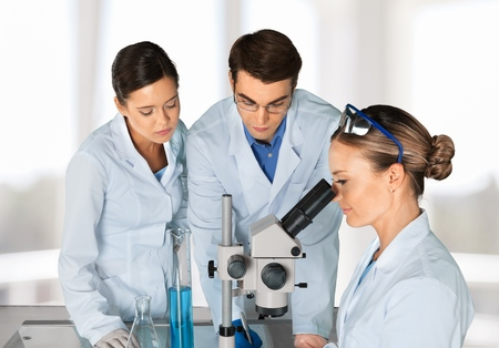 laboratory research: Laboratory, Scientist, Research. Stock Photo
