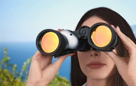 discovery: Binoculars, Surveillance, Looking.