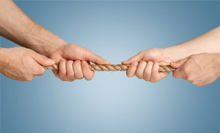 conflict: Conflict, Tug-of-war, Rope. Stock Photo