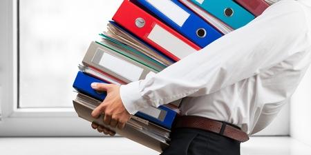 ring file: File, Ring Binder, Emotional Stress. Stock Photo