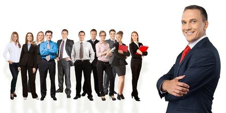 liderazgo empresarial: Negocios, Liderazgo, Personas de negocios.