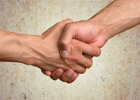 agree: Adult, agree, agreement. Stock Photo