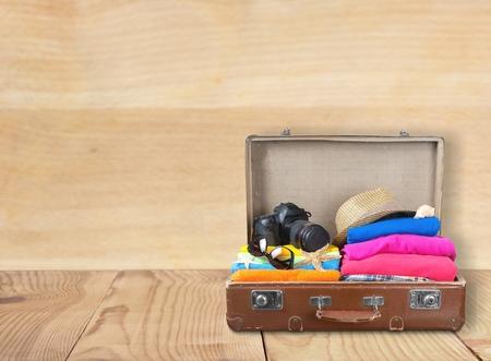 旅行、バッグ、観光地。