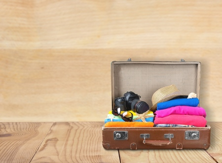 Travel, bag, tourist. Stock Photo