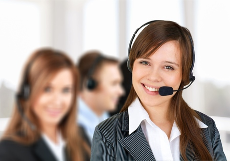 service occupation: Service, Business, Customer Service Representative. Stock Photo