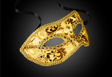 black mask: Mask, Costume, Masquerade Mask. Stock Photo