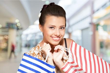 boxing day sale: Shopping, Women, Sale. Stock Photo