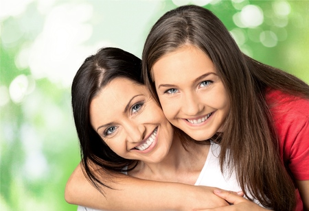 southern european descent: Mother, Teenager, Daughter.