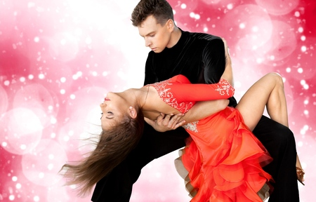 románc: Salsa tánc, tánc, párosít. Stock fotó