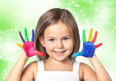 child finger: Indian, kid, paintings.