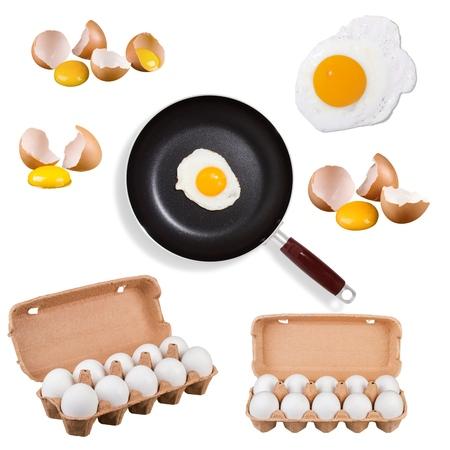 huevos fritos: Huevos, Pan, huevo frito. Foto de archivo