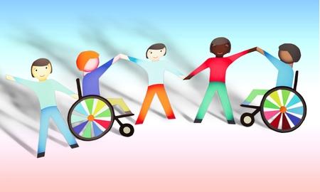 Behinderte, Kinder, Körperliche Behinderung.
