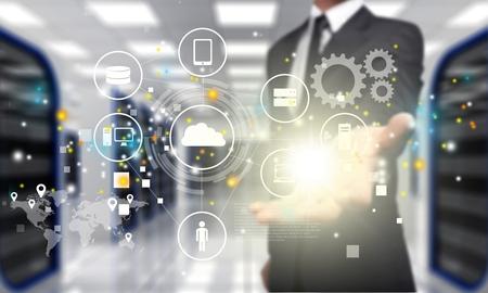 tecnologia: Conceito, negócio, tablet. Banco de Imagens