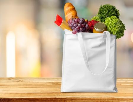 Supermarket, shop, bag.