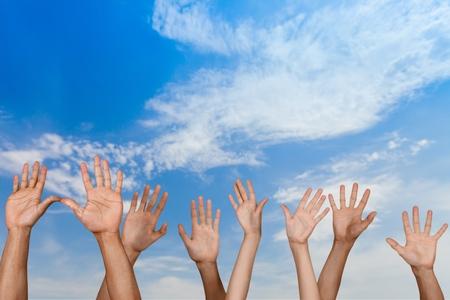 volunteer: Human Hand, Hand Raised, Volunteer.