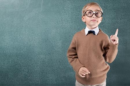 Kid, smart, asian. Stock Photo