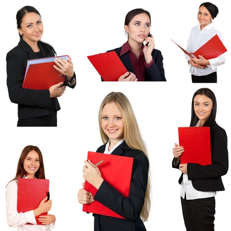 young students: Women, Business, File. Stock Photo
