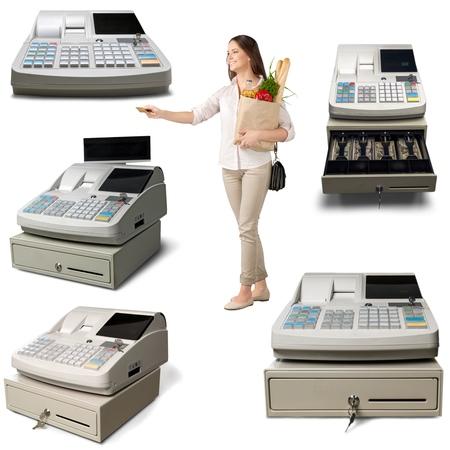 cash money: Tarjeta de crédito, de compras, al cliente. Foto de archivo