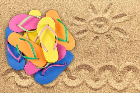 sandalia: Flip-Flop, Calzado, Sandalia. Foto de archivo