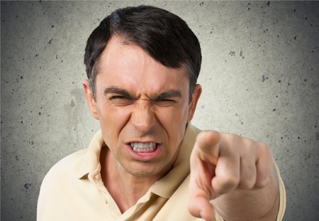 unkind: Anger, Furious, Displeased. Stock Photo