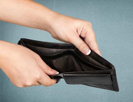 empty wallet: Empty, Wallet, Pocket.