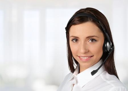 Customer Service Representative, Service, Telephone. Stock Photo