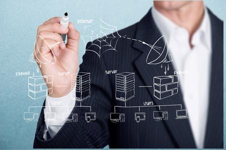 computer writing: Technology, Network Server, Computer Network.