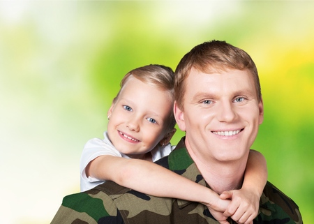 enlisting: Military, Armed Forces, Family. Stock Photo