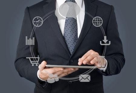 Technology, Internet, Futuristic. Stock Photo