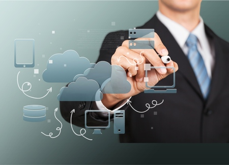 networking: Cloud, network, networking. Stock Photo