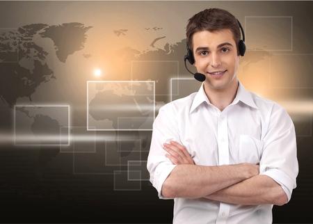 サービス、IT サポート、カスタマー サービス担当者。 写真素材