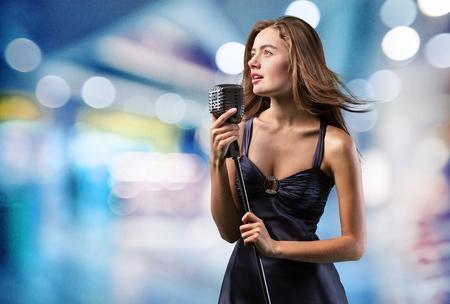 singer on stage: Singer, stage, talent.