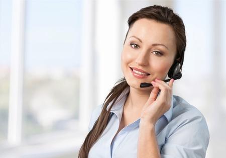 Représentant du service à la clientèle, femmes, téléphone.