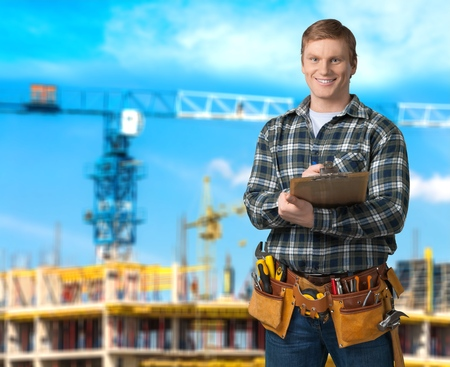 craftsperson: Mechanic, Craftsperson, Electrician. Stock Photo