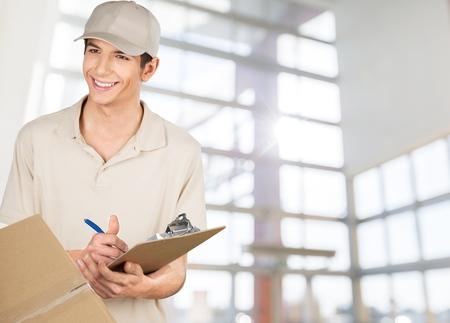 Delivering, Package, Messenger. Stock Photo
