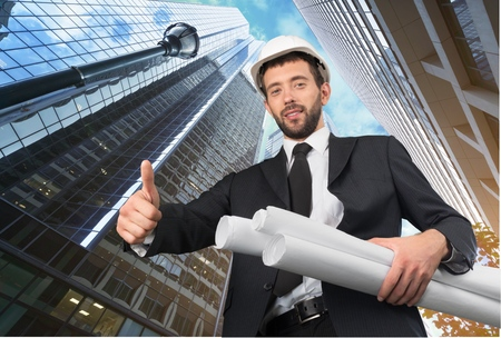 construction site: Engineer, Construction, Construction Site. Stock Photo