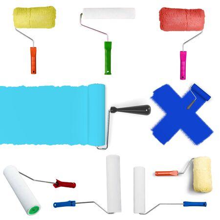 paint roller: Paint, Paint Roller, Blue.