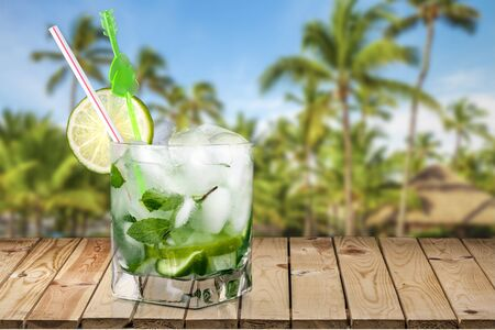 caipirinha: Cocktail, Caipirinha, Lime. Stock Photo