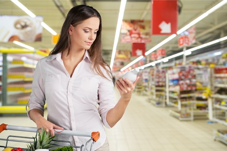 shopping binge: Supermarket, Food, Groceries.