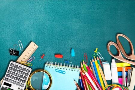 back to school background: School, back, blackboard.