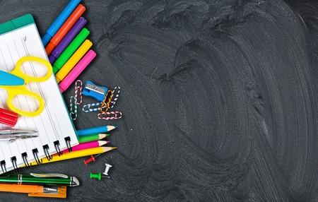 学校、バック、黒板。 写真素材